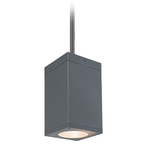 WAC Lighting Wac Lighting Cube Arch Graphite LED Outdoor Hanging Light DC-PD05-N835-GH