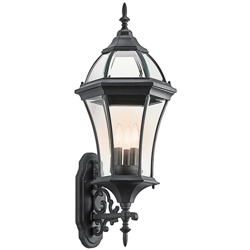 Kichler Lighting Kichler Outdoor Wall Light with Clear Glass in Black Finish 49185BK
