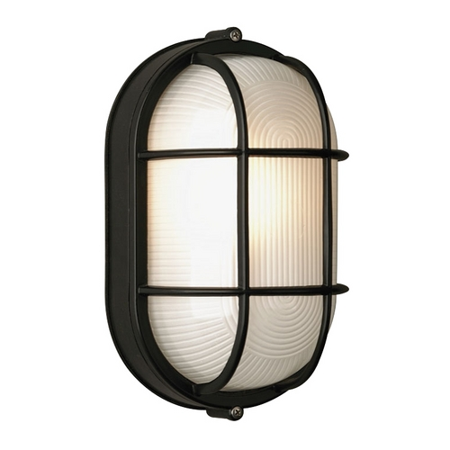 Philips Lighting Modern Outdoor Wall Light with White Glass in Black Finish F9079519NV