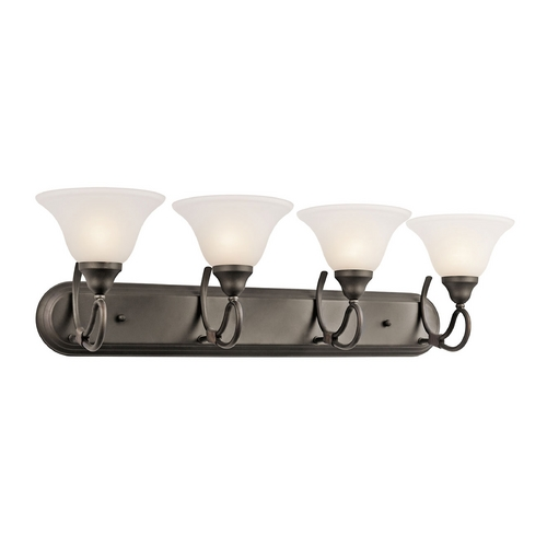 Kichler Lighting Kichler Bathroom Light with White Glass in Olde Bronze Finish 5559OZ
