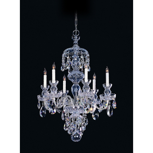 Crystorama Lighting Crystal Chandelier in Polished Chrome Finish 1146-CH-CL-S