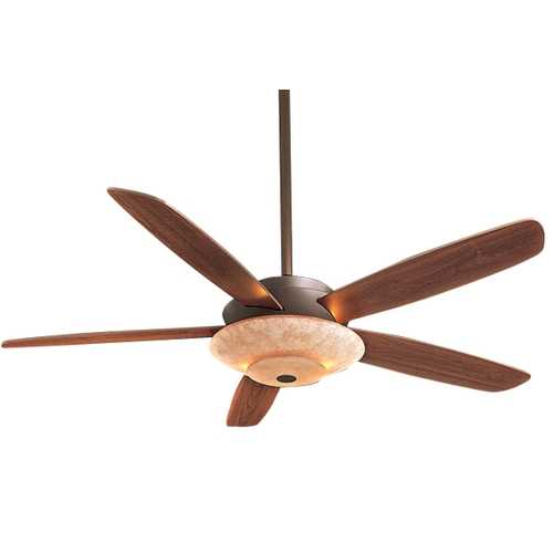 Minka Aire Ceiling Fan with Five Blades and Light Kit F598-ORB