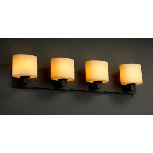 Justice Design Group Justice Design Group Candlearia Collection Bathroom Light CNDL-8924-30-AMBR-DBRZ