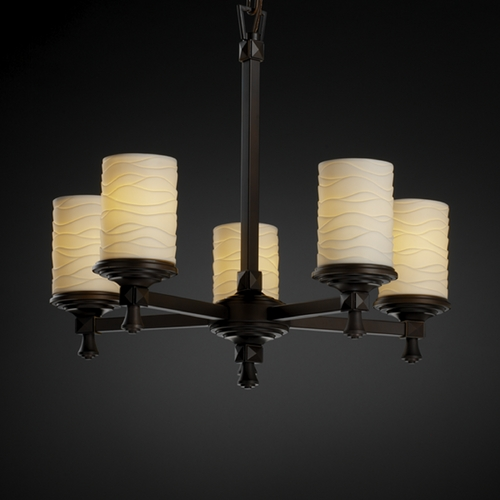 Justice Design Group Justice Design Group Limoges Collection Chandelier POR-8530-10-WAVE-DBRZ