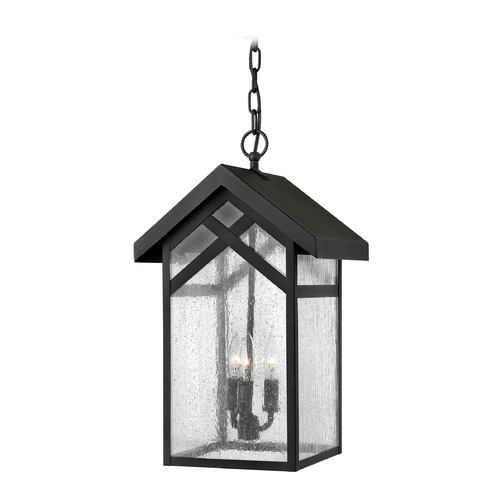 Hinkley Lighting Outdoor Hanging Light with Clear Glass in Black Finish 1792BK-GU24