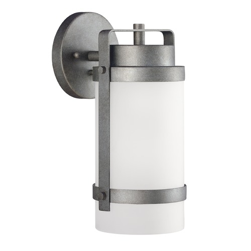 Sea Gull Lighting Sea Gull Lighting Bucktown Weathered Pewter Outdoor Wall Light 8622401-57