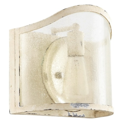 Quorum Lighting Seeded Glass Bathroom Light White Quorum Lighting 5106-1-70