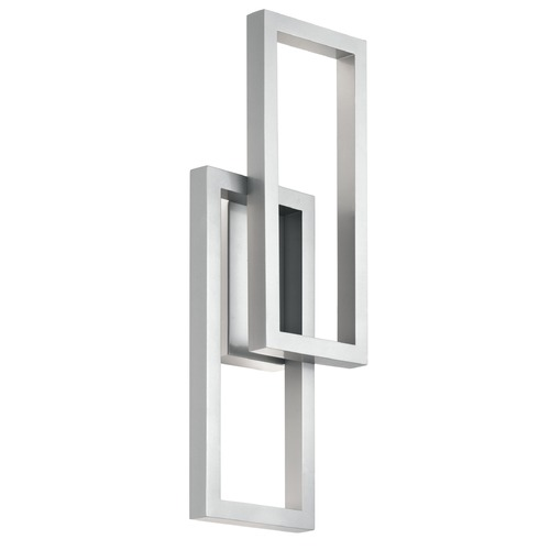 Kichler Lighting Kichler Lighting Rettangolo Platinum LED Outdoor Wall Light 49803PLLED
