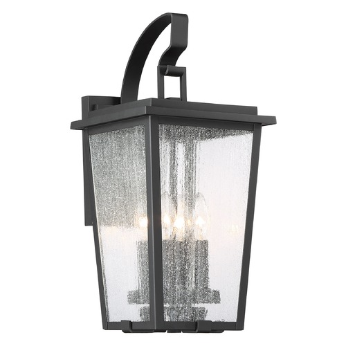 Minka Lavery Minka Lavery Cantebury Sand Black, Burnt Gold & Sand Black Candle Sleeves Outdoor Wall Light 72752-66G
