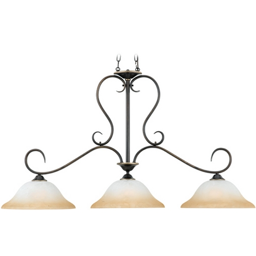 Quoizel Lighting Island Light with Brown Glass in Palladian Bronze Finish DH348PN