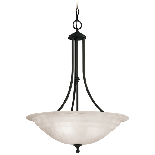 Dolan Designs Lighting Modern Pendant Light with Alabaster Glass in Royal Bronze Finish 669-30