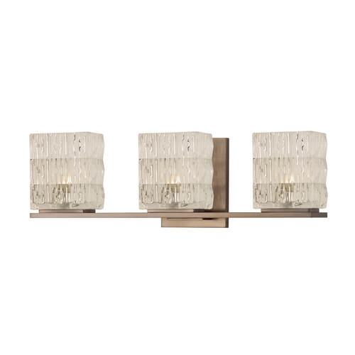 Hudson Valley Lighting Modern Bathroom Light with Clear Glass in Brushed Bronze Finish 6243-BB