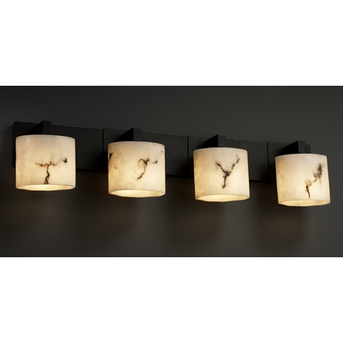 Justice Design Group Justice Design Group Lumenaria Collection Bathroom Light FAL-8924-30-MBLK
