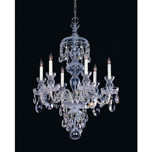 Crystorama Lighting Crystal Chandelier in Polished Chrome Finish 1146-CH-CL-SAQ
