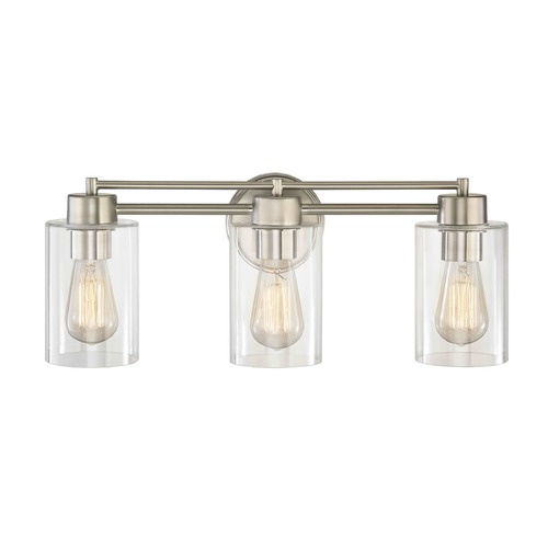 Design Classics Lighting Satin Nickel Bathroom Light 703-09 GL1040C