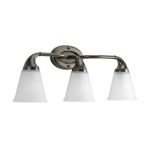 Progress Lighting Progress Bathroom Light with White Glass in Venetian Bronze Finish P2760-74