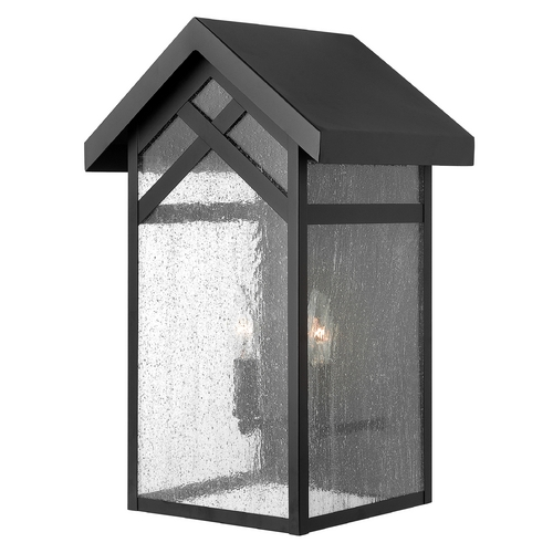 Hinkley Lighting Outdoor Wall Light with Clear Glass in Black Finish 1794BK