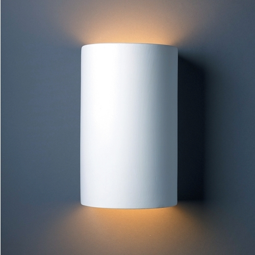 Justice Design Group Outdoor Wall Light in Bisque Finish CER-1265W-BIS