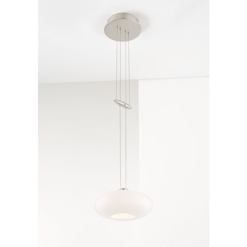 Holtkoetter Lighting Holtkoetter Modern Low Voltage Mini-Pendant Light with White Glass 5701 SN G5701