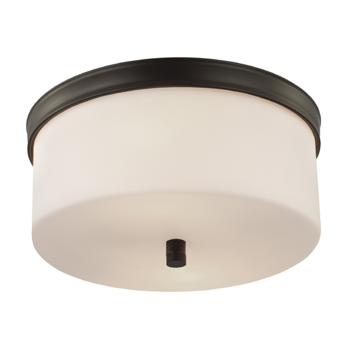 Feiss Lighting Feiss Lighting Lismore Oil Rubbed Bronze Flushmount Light FM401ORB