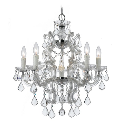 Crystorama Lighting Crystorama Lighting Maria Theresa Polished Chrome Crystal Chandelier 4335-CH-CL-S