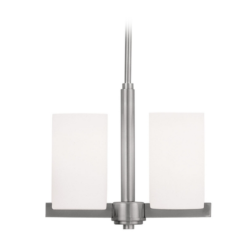 Livex Lighting Livex Lighting Astoria Brushed Nickel Pendant Light with Cylindrical Shade 1322-91