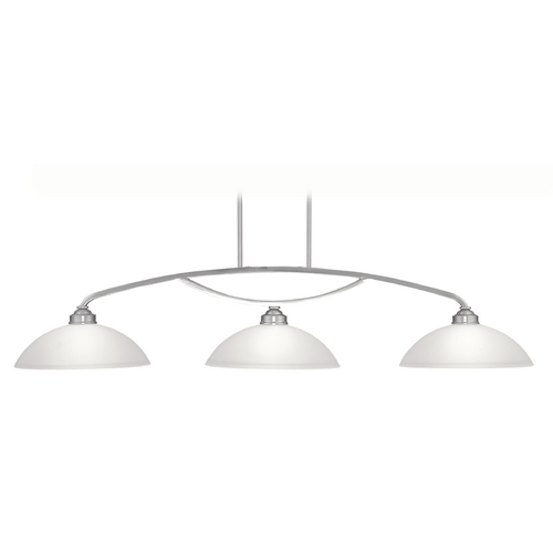 Livex Lighting Livex Lighting Somerset Brushed Nickel Billiard Light with Bowl / Dome Shade 4224-91