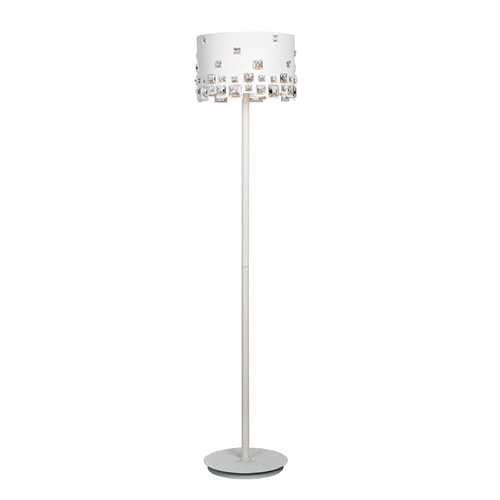 Lite Source Lighting Lite Source Lighting Isabella White Floor Lamp with Drum Shade EL-90133