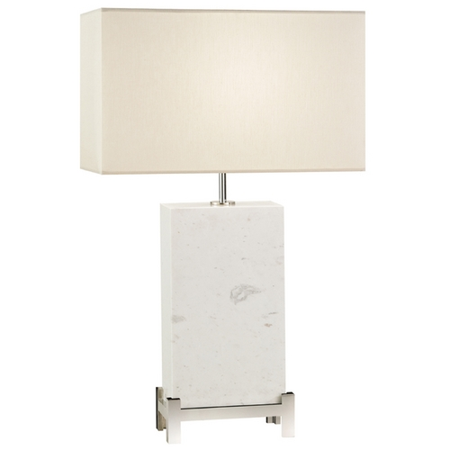 Fine Art Lamps Fine Art Lamps White Marble Table Lamps White Marble Table Lamp with Rectangle Shade 826410ST