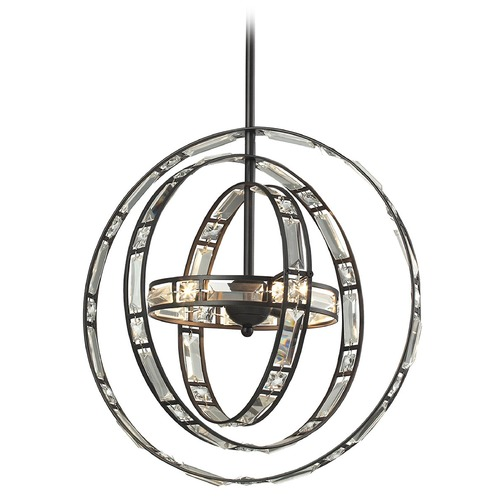 Elk Lighting Elk Lighting Crystal Orbs Oil Rubbed Bronze Pendant Light 31660/3