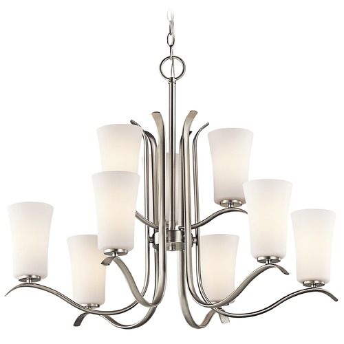 Kichler Lighting Kichler Lighting Armida Brushed Nickel LED Chandelier 43075NIL16