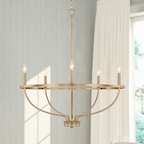 HomePlace by Capital Lighting Homeplace By Capital Lighting Greyson Aged Brass Chandelier 428551AD