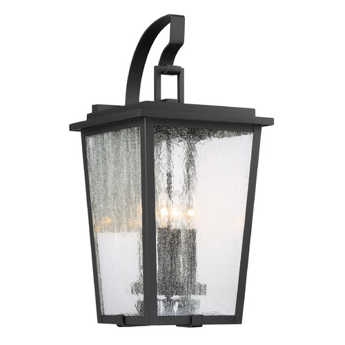 Minka Lavery Minka Lavery Cantebury Sand Black, Burnt Gold & Sand Black Candle Sleeves Outdoor Wall Light 72753-66G
