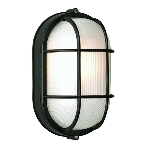 Philips Lighting Modern Outdoor Wall Light with White Glass in Black Finish F9079619NV