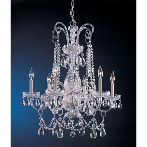 Crystorama Lighting Crystal Chandelier in Polished Chrome Finish 1030-CH-CL-MWP