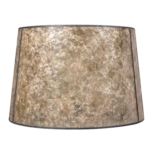 Design Classics Lighting Blonde Mica Drum Lamp Shade with Bronze Spider Assembly SH9587