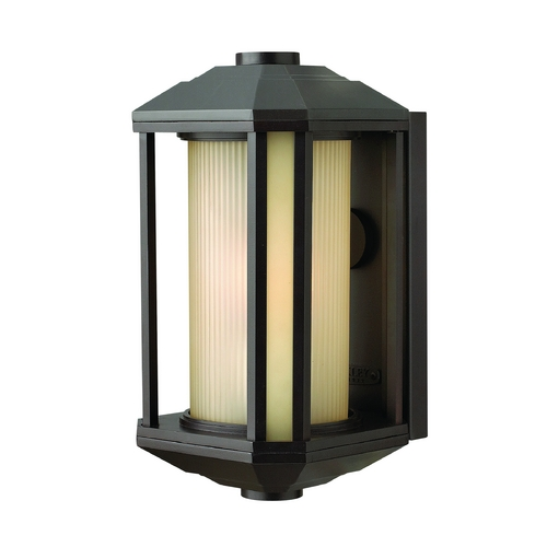 Hinkley Lighting Outdoor Wall Light with Amber Glass in Bronze Finish 1394BZ