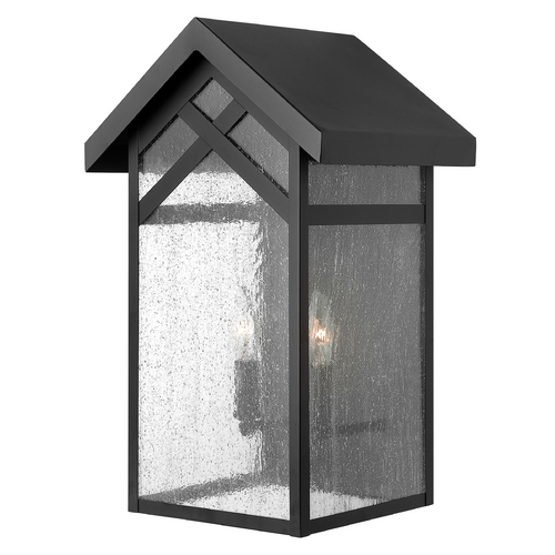 Hinkley Lighting Outdoor Wall Light with Clear Glass in Black Finish 1794BK-GU24
