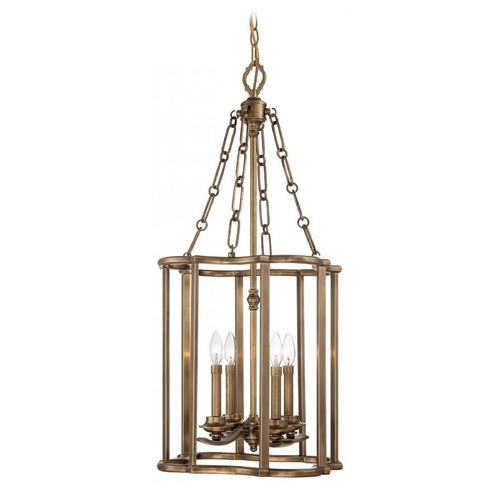 Metropolitan Lighting Pendant Light in Aged Brass Finish N6944-575