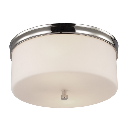 Feiss Lighting Feiss Lighting Lismore Polished Nickel Flushmount Light FM401PN
