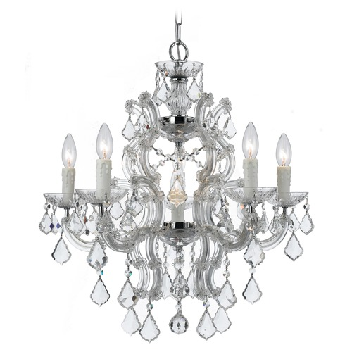 Crystorama Lighting Crystorama Lighting Maria Theresa Polished Chrome Crystal Chandelier 4335-CH-CL-SAQ