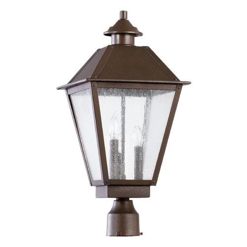 Quorum Lighting Seeded Glass Post Light Oiled Bronze Quorum Lighting 7026-3-86