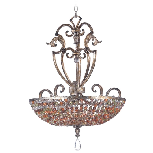 Kalco Lighting Kalco Lighting Chesapeake Antique Silver Leaf Pendant Light 2566AF