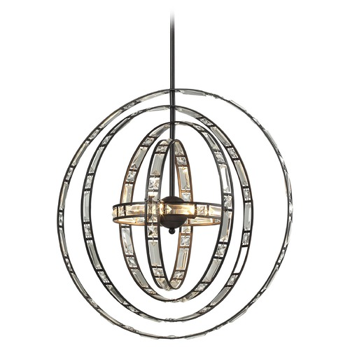 Elk Lighting Elk Lighting Crystal Orbs Oil Rubbed Bronze Pendant Light 31661/6