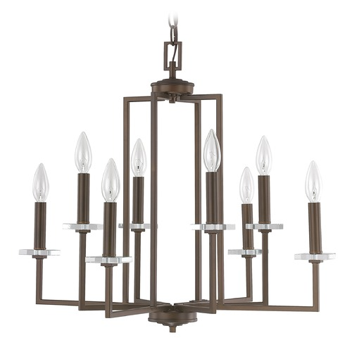 Capital Lighting Capital Lighting Morgan Burnished Bronze Crystal Chandelier 4817BB