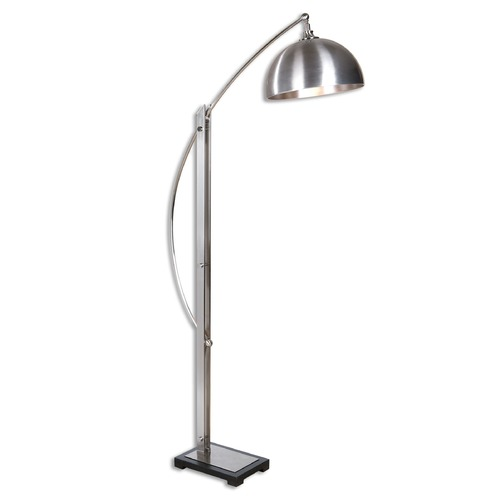 Uttermost Lighting Uttermost Malcolm Brushed Nickel Floor Lamp 28634-1