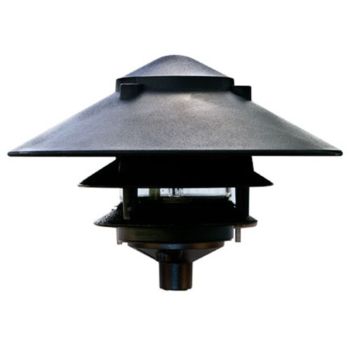 Dabmar Lighting Black Cast Aluminum Three Tier Pagoda Light D5300-B
