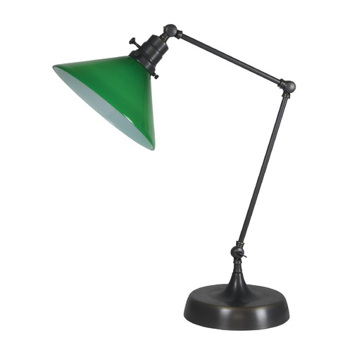 House of Troy Lighting House Of Troy Otis Oil Rubbed Bronze Table Lamp with Conical Shade OT650-OB-GR