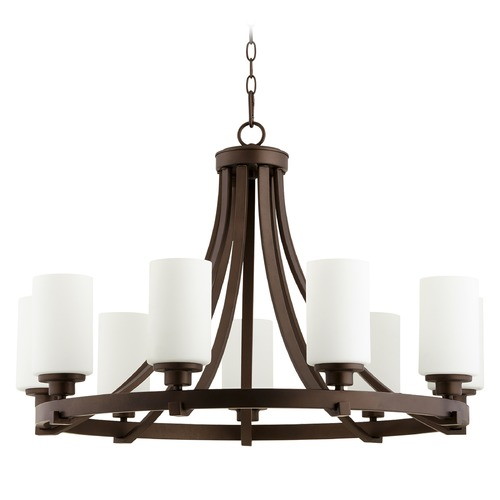 Quorum Lighting Quorum Lighting Lancaster Oiled Bronze Chandelier 6207-9-86