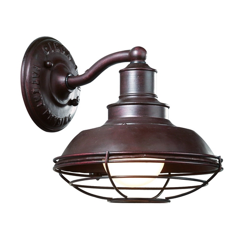 Troy Lighting Outdoor Wall Light in Old Rust Finish B9270OR